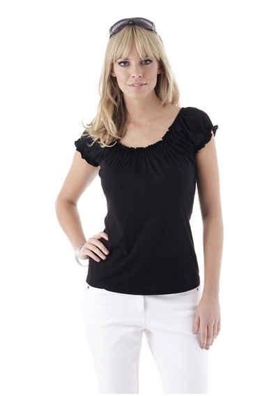 Aniston CASUAL T-Shirt mit Carmenausschnitt