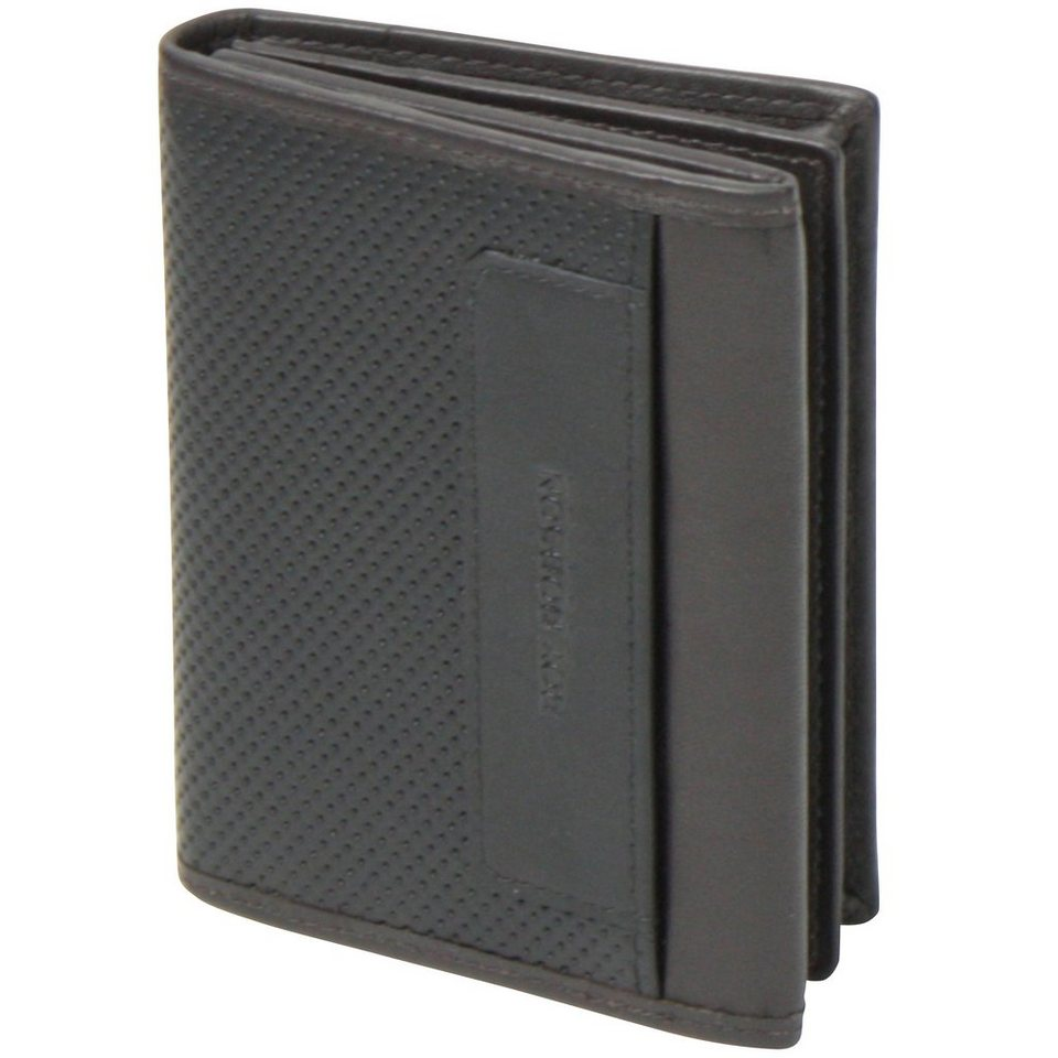 Roy Robson Perforated Visitenkartenetui Leder 10,5 cm in schwarz