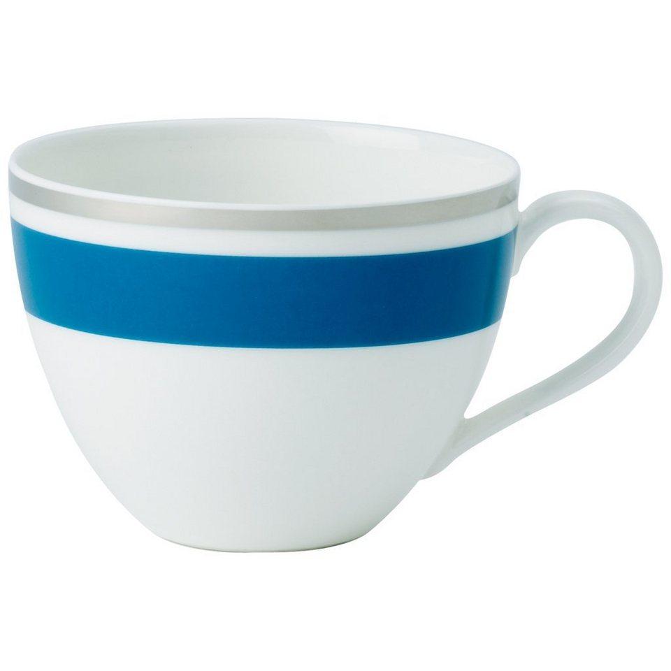 VILLEROY & BOCH Kaffeeobertasse »Anmut My Colour Petrol Blue« in Dekoriert
