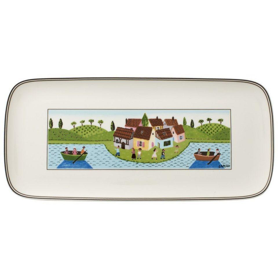VILLEROY & BOCH Kuchenplatte eckig 35x16cm »Charm & Breakfast Design Naif« in Dekoriert
