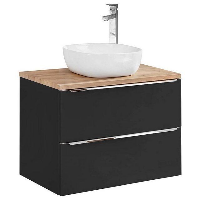 Waschtische - Lomadox Waschtisch »TOSKANA BLACK 56«  - Onlineshop OTTO