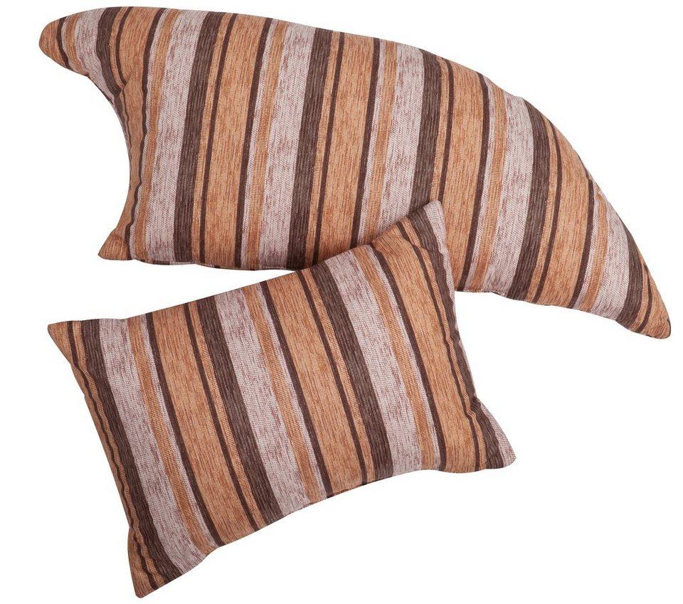 Kissen-Set, Home affaire (2-teilig), »Sambia« in braun/beige