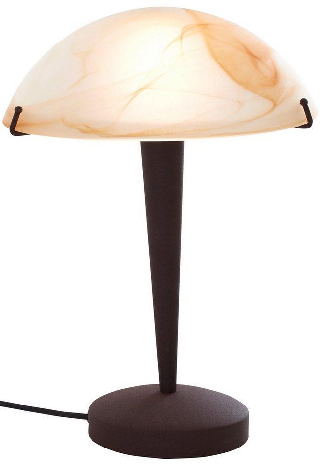 Tischlampe, Trio. Die Leuchte ist geeignet für Leuchtmittel der EEK C bis E. in braun