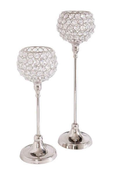 Home affaire Teelichthalter »Kristall« (Set, 2 Stück)