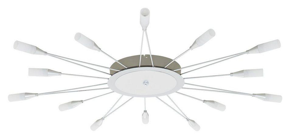 Deckenleuchte, Trio. Inkl. LED´s der EEK A. Die LED-Lampen können nicht getauscht werden. in silberfarben