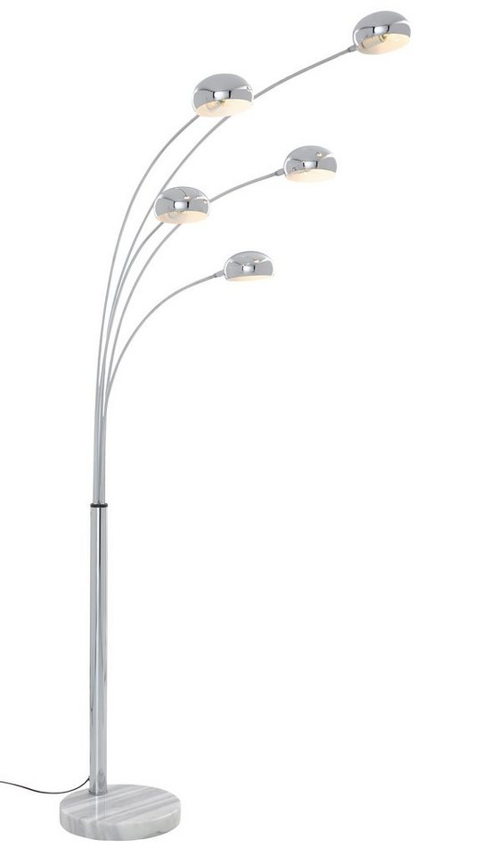 Bogenlampe, Trio. Die Leuchte ist geeignet für Leuchtmittel der EEK A++ bis E in grau