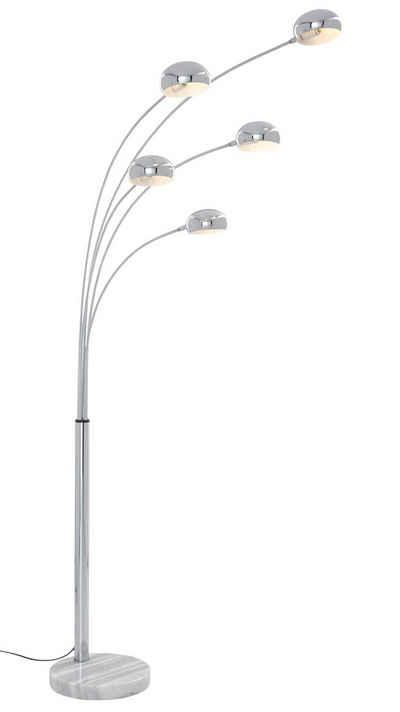 TRIO Leuchten Bogenlampe »Five Fingers«, Fußschalter, Leuchtmittel tauschbar
