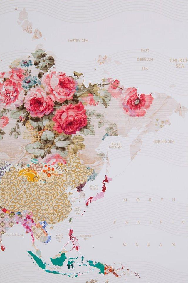 Home affaire, Bild »World of Patterns«, in zwei Größen in weiß
