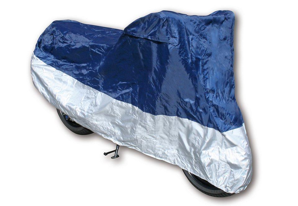 Roller-Schutzhülle/Faltgarage für Mofaroller und Motorroller in blau-silberfarben
