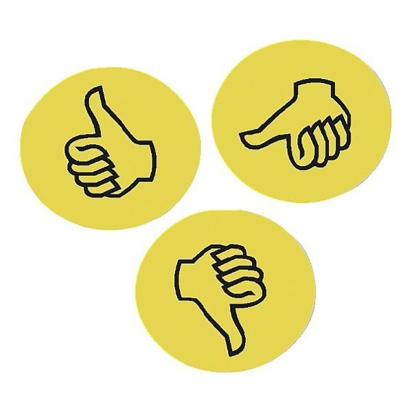 Franken Moderationskarten »Bewertungssymbol Daumen«