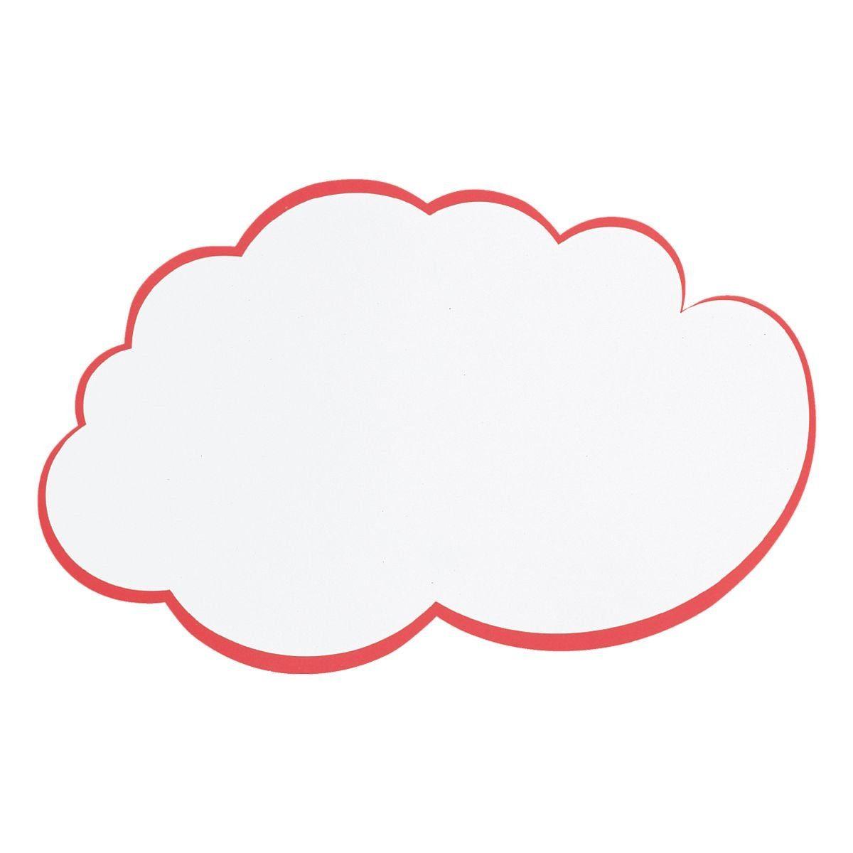 Franken Moderationskarten »Wolke«