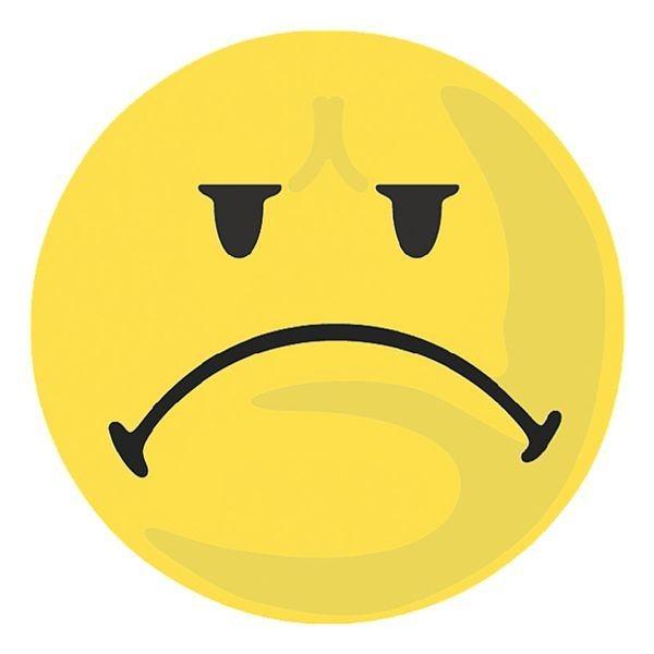Franken Moderationskarten »Bewertungssymbol negativ«