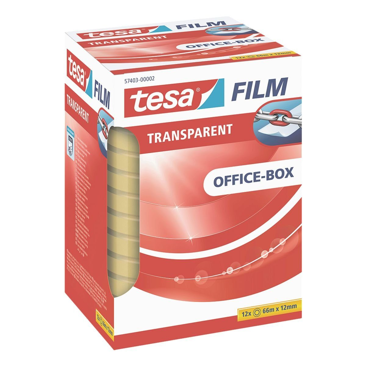 Tesa Klebeband transparent, 12 mm/66 m (B/L) »Office Box«