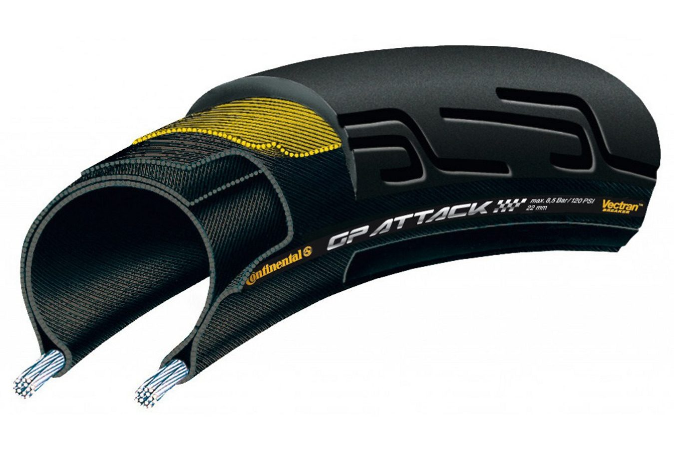 Continental Fahrradreifen »Grand Prix Attack II 22-622 faltbar«