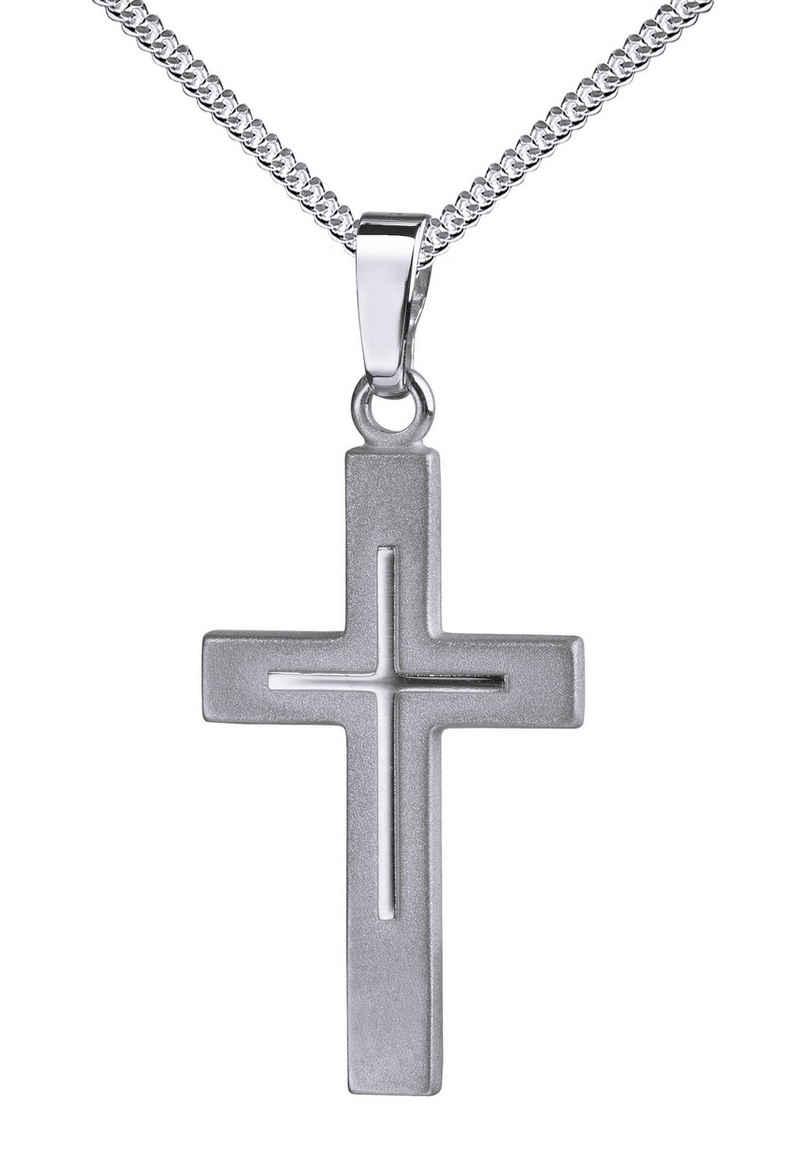 JEVELION Kreuzkette »Kreuz«, Anhänger 925 Silber