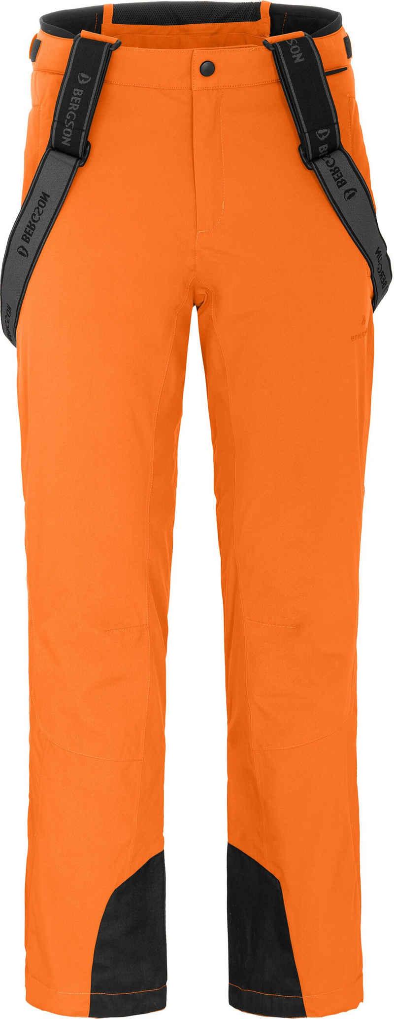Bergson Skihose »FLEX light« Herren Skihose, unwattiert, 20000mm Wassersäule, Normalgrößen, orange