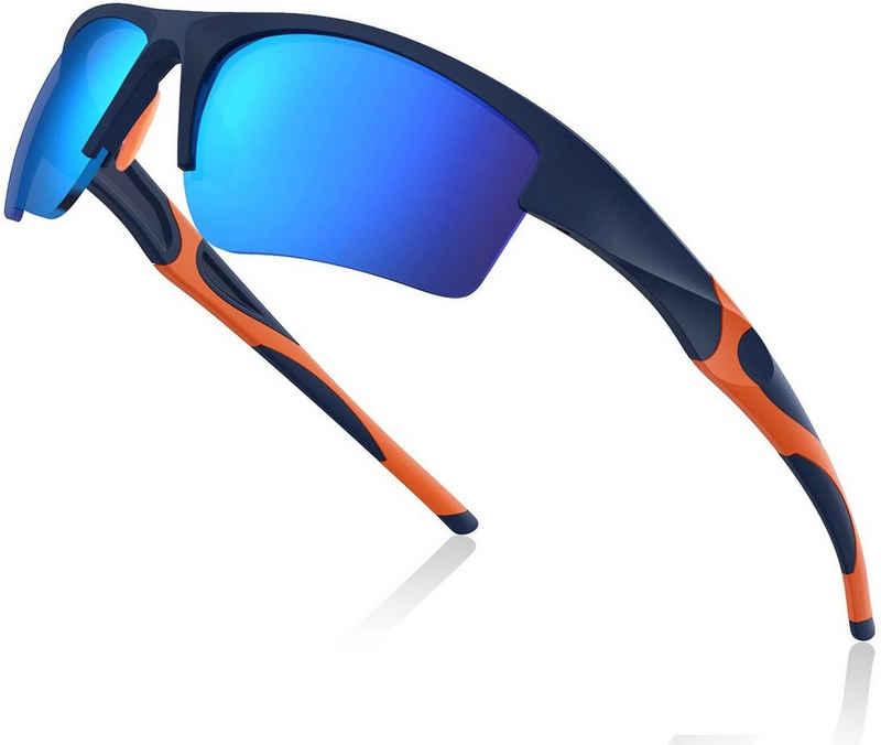 Avoalre Fahrradbrille, (Sonnenbrille Brille Angeln mit Rahmen TR90 Super Light Skibrille Blau), Avoalre Fahrradbrille Sportbrille Winddicht Fahrrad Sonnenbrille Anti UV400 fahradbrille Herren