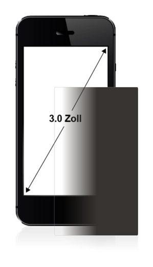 upscreen Schutzfolie »für 7.6 cm (3 Zoll) Displays 60 x 45 mm«, Folie Schutzfolie Sichtschutz klar anti-spy