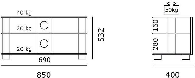 TV Möbel - JUST by Spectral TV Rack »just racks TV 8553«, Breite 85 cm  - Onlineshop OTTO