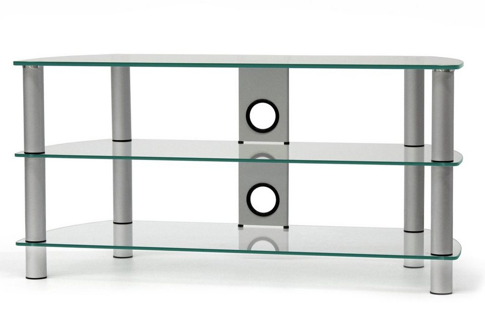 TV-Rack, Just Racks, Breite 105 cm in Klarglas
