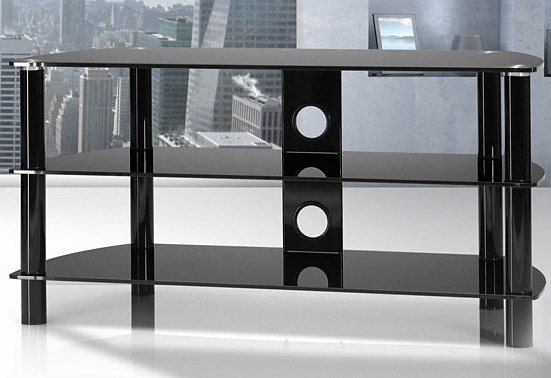 TV-Rack, Just Racks, Breite 105 cm in Schwarzglas