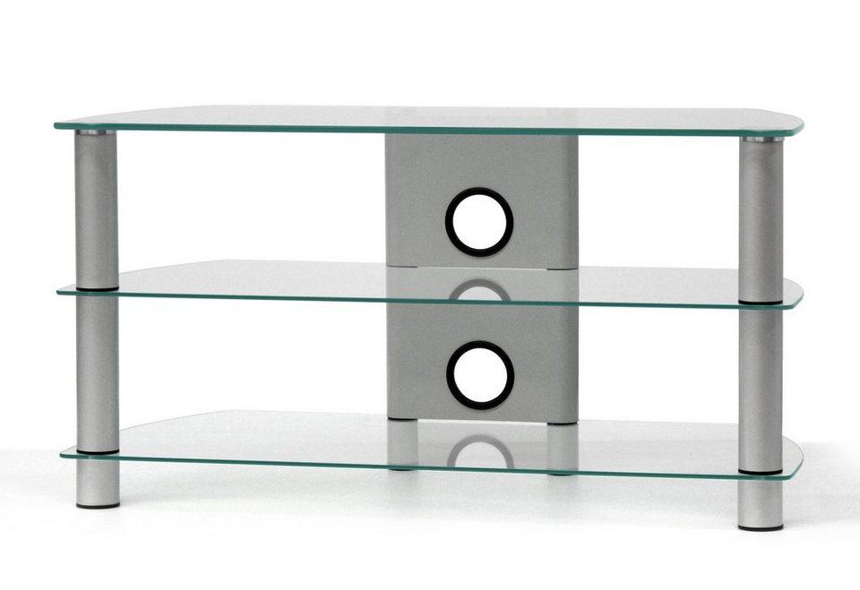 TV-Rack, Just Racks, Breite 85 cm in Klarglas
