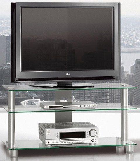 TV-Rack, Just Racks, Breite 105 cm in Klarglas