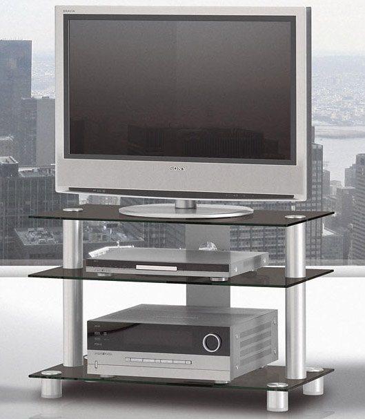 TV-Rack, Just Racks, Breite 85 cm in Schwarzglas