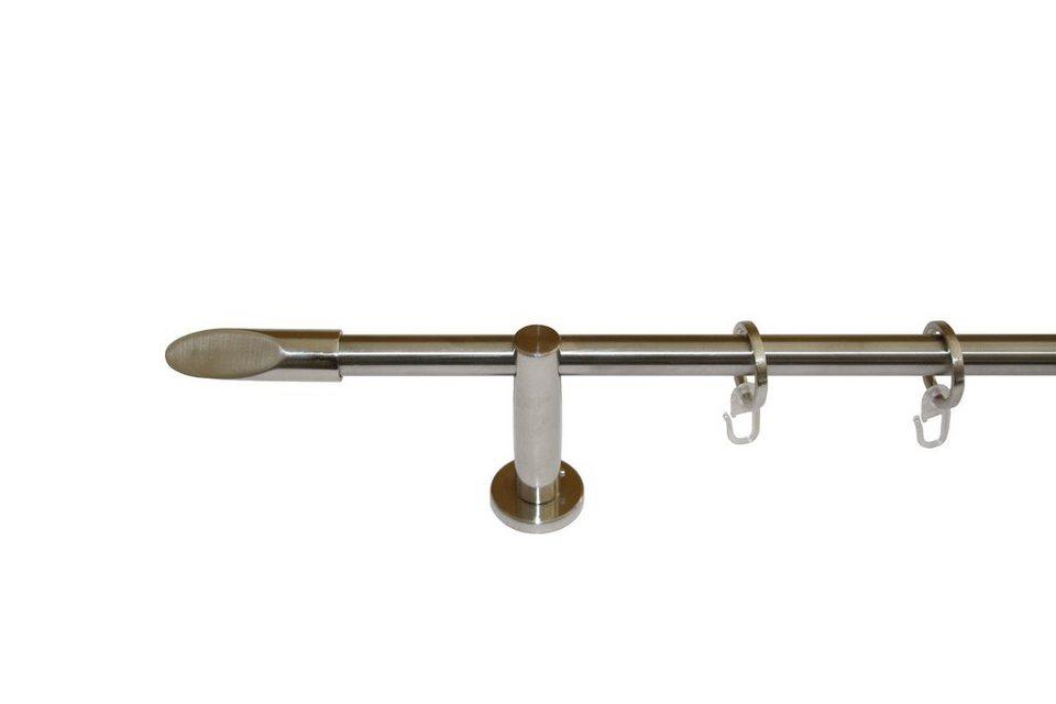 Gardinenstange 1-läufig im Fixmaß ø 16 mm, Garesa, »Malaga« in edelstahloptik