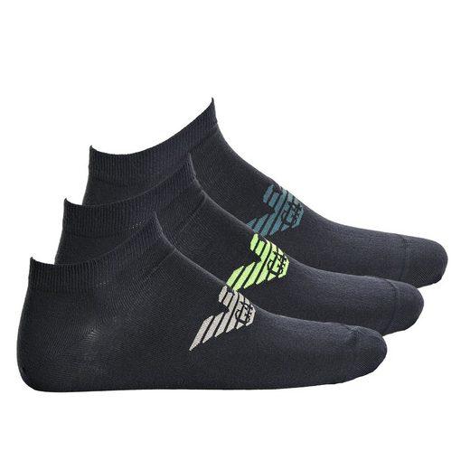 Emporio Armani Sneakersocken »Herren Sneakersocken, 3er Pack - großes Logo«