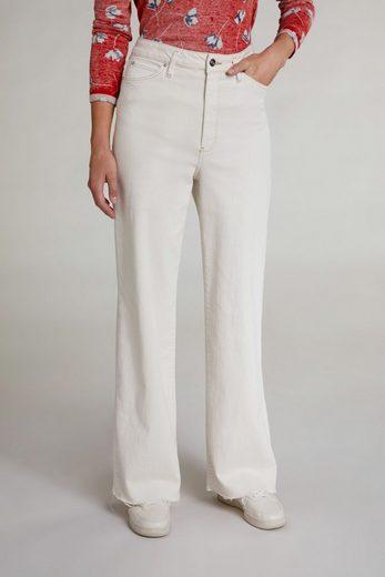 Oui Slim-fit-Jeans »The Wide-leg Slim fit« Ohne Details