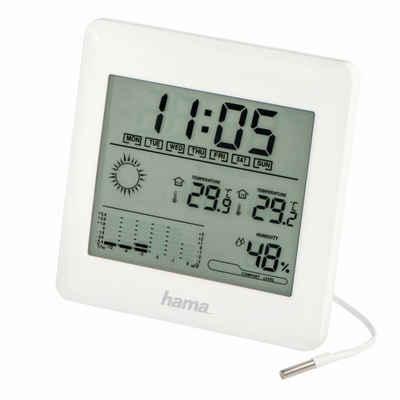 Hama »Hama Wetterstation Thermometer Hygrometer Uhr-Zeit« Regenmesser