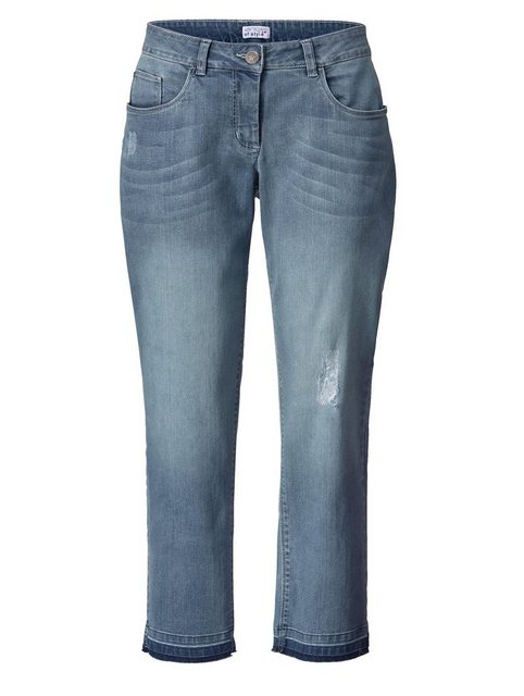 Hosen - Angel of Style by Happy Size Slim Fit Jeans knöchellang › blau  - Onlineshop OTTO