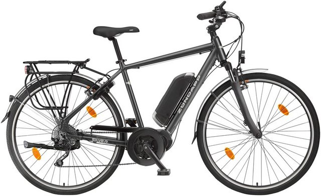 ZÜNDAPP E-Bike Trekking »Silver 5.5«, 28 Zoll, 10 Gang, Mittelmotor, 374,4 Wh*
