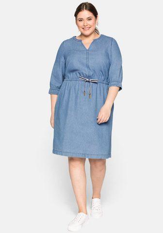 Sheego Džinsinė suknelė su kišenė