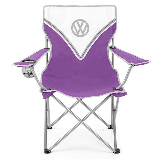 VW Collection by BRISA Campingstuhl »VW Bulli T1 Design faltbar« Mit Getränkehalter & Tragetasche