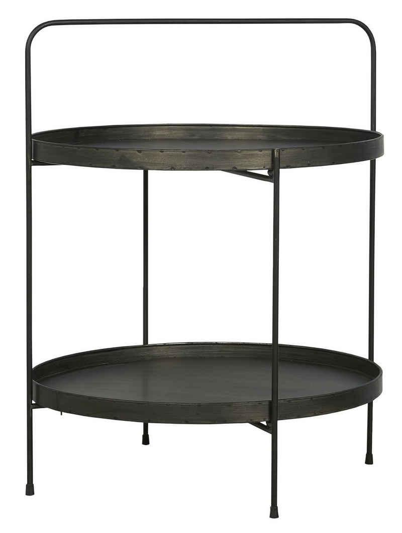 Ib Laursen Beistelltisch »Ib Laursen - Wohnzimmer- Beistell- Tisch Rund Brooklyn Metall Schwarz (31020-25)«