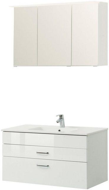 Badezimmer Sets - HELD MÖBEL Badmöbel Set »Treviso«, Breite 100 cm, Set 3 tlg.  - Onlineshop OTTO