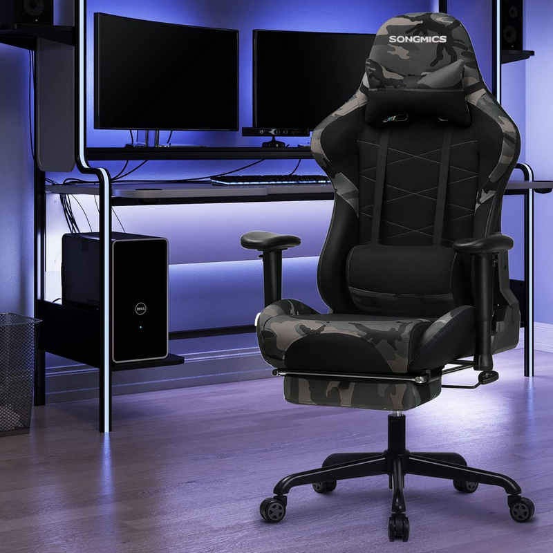 SONGMICS Gaming-Stuhl »RCG52«, Bürostuhl, Schreibtischstuhl, ergonomisch, atmungsaktives Meshgewebe