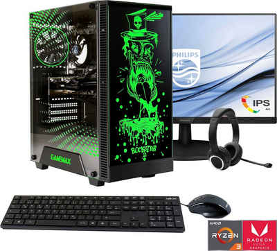 Hyrican »Rockstar SET02073 + Philips 273V7QDSB/00 68,6cm (27) + Hyrican ST-GH577 Headset« Gaming-PC-Komplettsystem (27 Zoll, AMD Ryzen 3, Radeon Graphics, 16 GB RAM, 960 GB SSD)