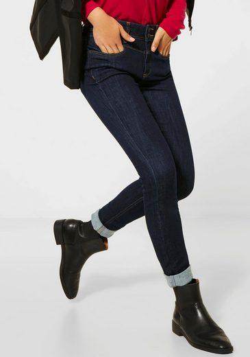 STREET ONE Slim-fit-Jeans »York« mit modischen Kontrastnähten