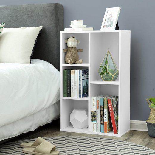 VASAGLE Bücherregal »LBC25WT LBC25NL«, Bücherschrank, 50 x 80 x 24 cm, weiß