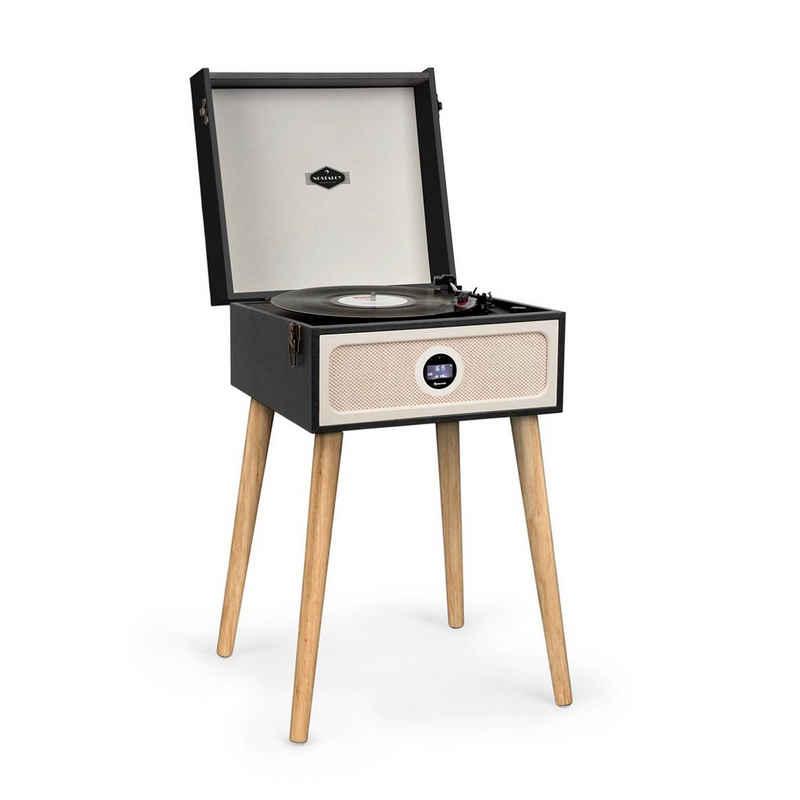 Auna »Sarah Ann DAB Plattenspieler 33/45/78 rpm DAB+/UKW-Radio Bluetooth schwarz« Plattenspieler (Bluetooth)