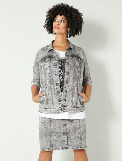 Angel of Style by HAPPYsize Jeansjacke in Moonwashed Optik