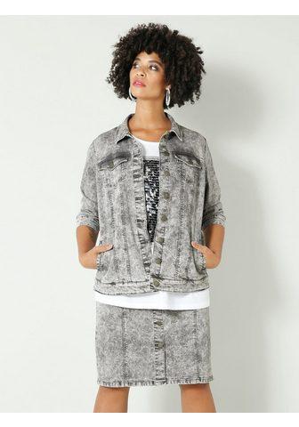 Angel of Style by HAPPYsize Jeansjacke in Moonwashed imitacija