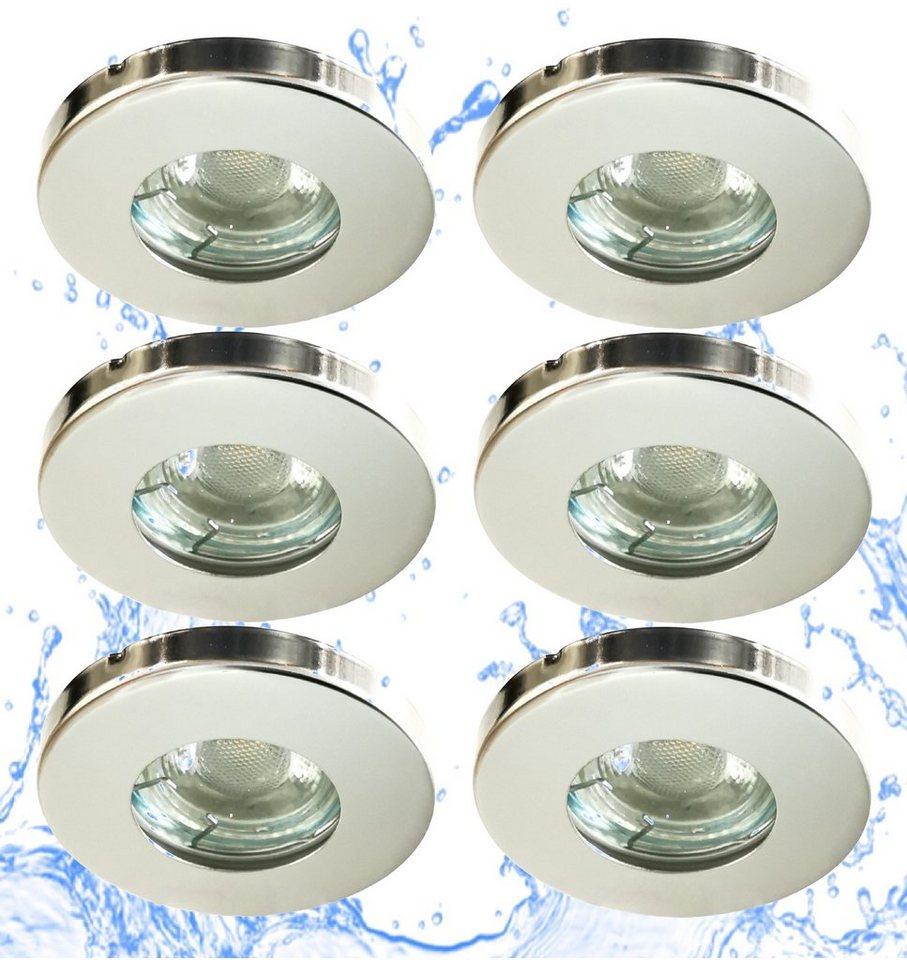 6 x LED Einbaustrahler Einbauleuchte Lampe Deckenlampe Spot Leuchte 5W Kaltweiß