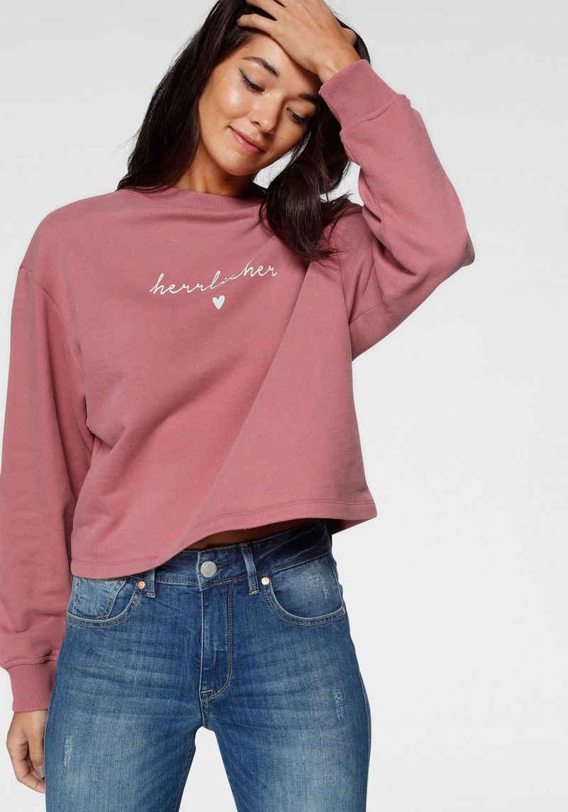 Herrlicher Sweatshirt »OTINA« mit Herrlicher Logo-Statement-Print