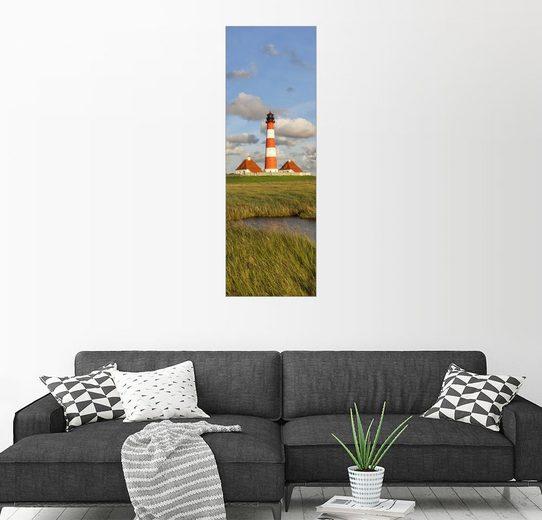 Posterlounge Wandbild, Premium-Poster Leuchtturm Westerheversand