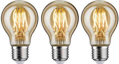 Paulmann »3er Pack 4,7 W AGL E27 gold« LED-Leuchtmittel, E27, 3 Stück, Warmweiß