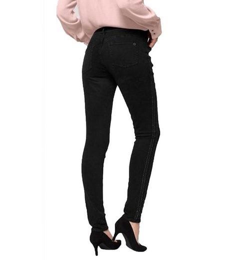 s.Oliver Regular-fit-Jeans »s.Oliver RED LABEL Stretch-Hose rockige Damen Denim-Jeans Freizeit-Hose im Skinny-Look Schwarz«